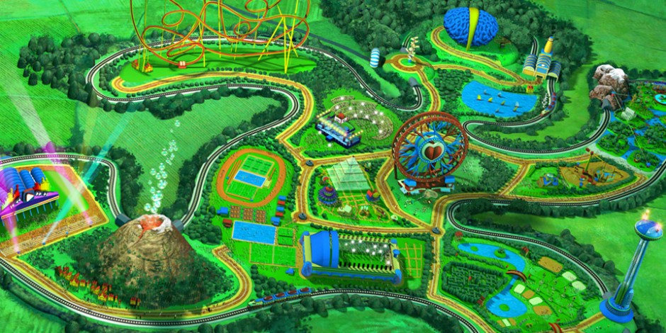 Activilandia Virtual Theme Park. Art by Román García Mora.