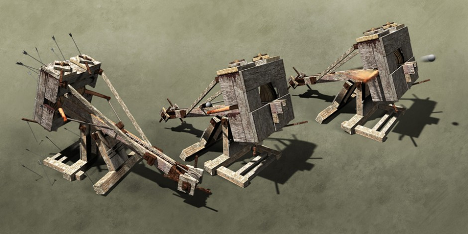Ballista, greek war machine infographic. Art by Román García Mora.