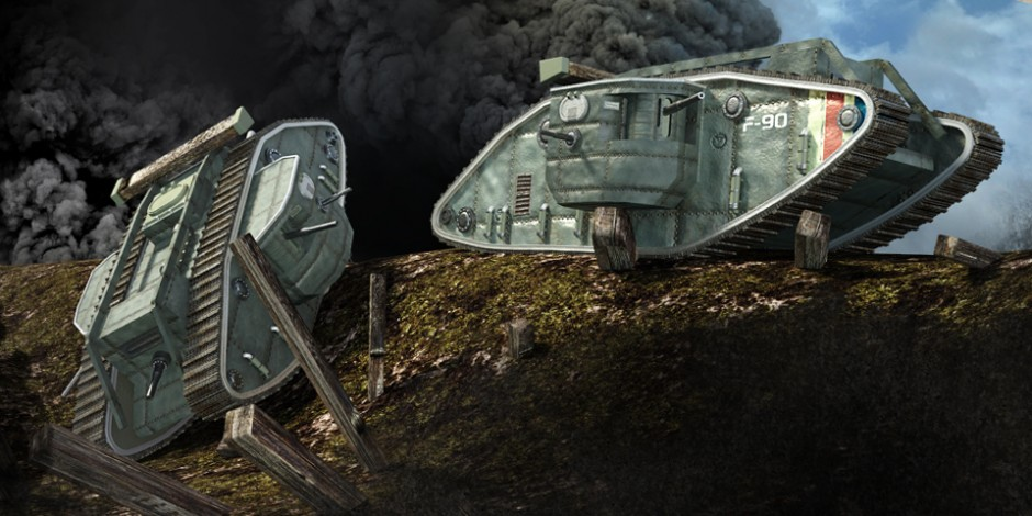 World War One Technology, Quo Magazine July 2014. Mark I, british tank. Art by Román García Mora.