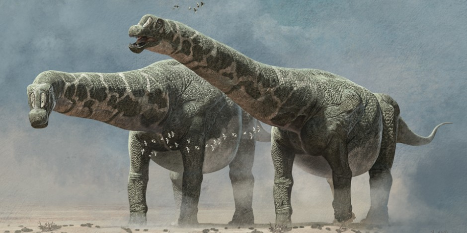 The biggest dinosaurs ever discovered, Quo Magazine November 2014. Art by Román García Mora.