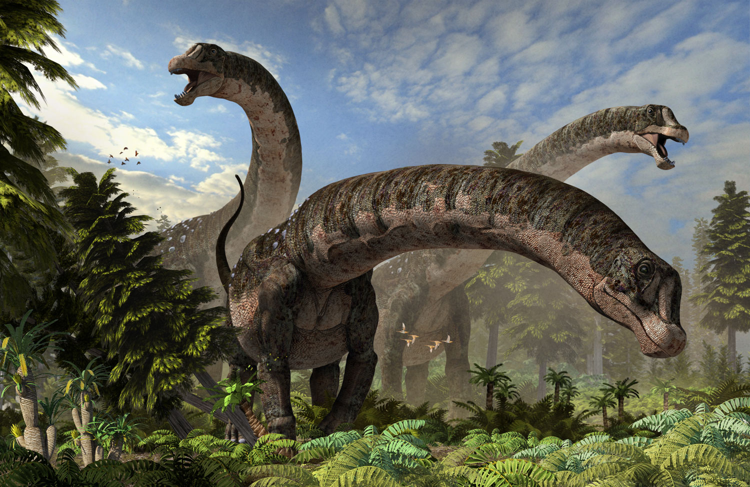New Stars in the Dinosaur World, PM Magazin April 2015. Dreadnoughtus schrani, feature cover. Art by Román García Mora.