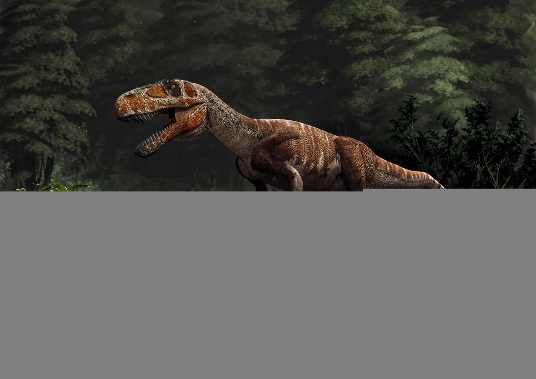 New Stars in the Dinosaur World, PM Magazin April 2015. Torvosaurus gurneyi. Art by Román García Mora.