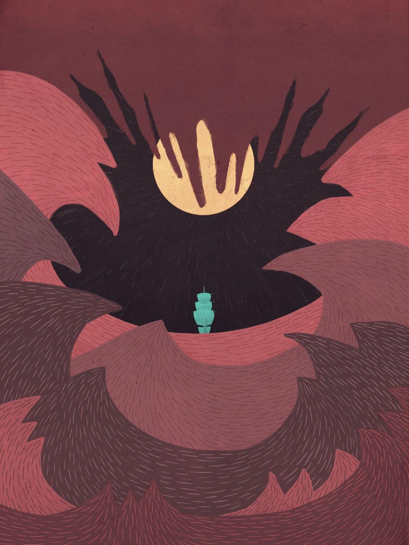 SOMNIUM, illustrated eBook. Journey to Denmark. Art by Román García Mora.