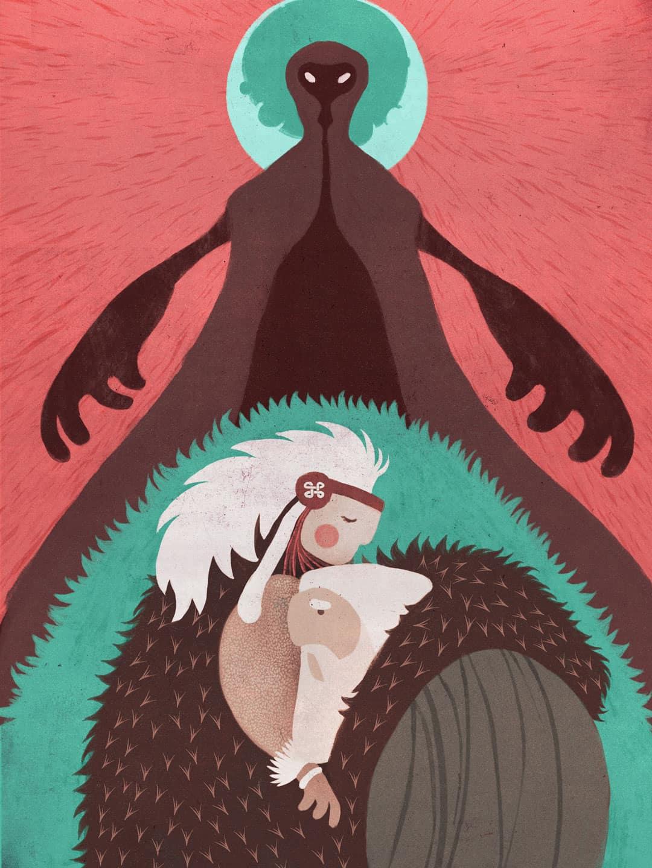 SOMNIUM, illustrated eBook. The beginning of the journey. Art by Román García Mora.
