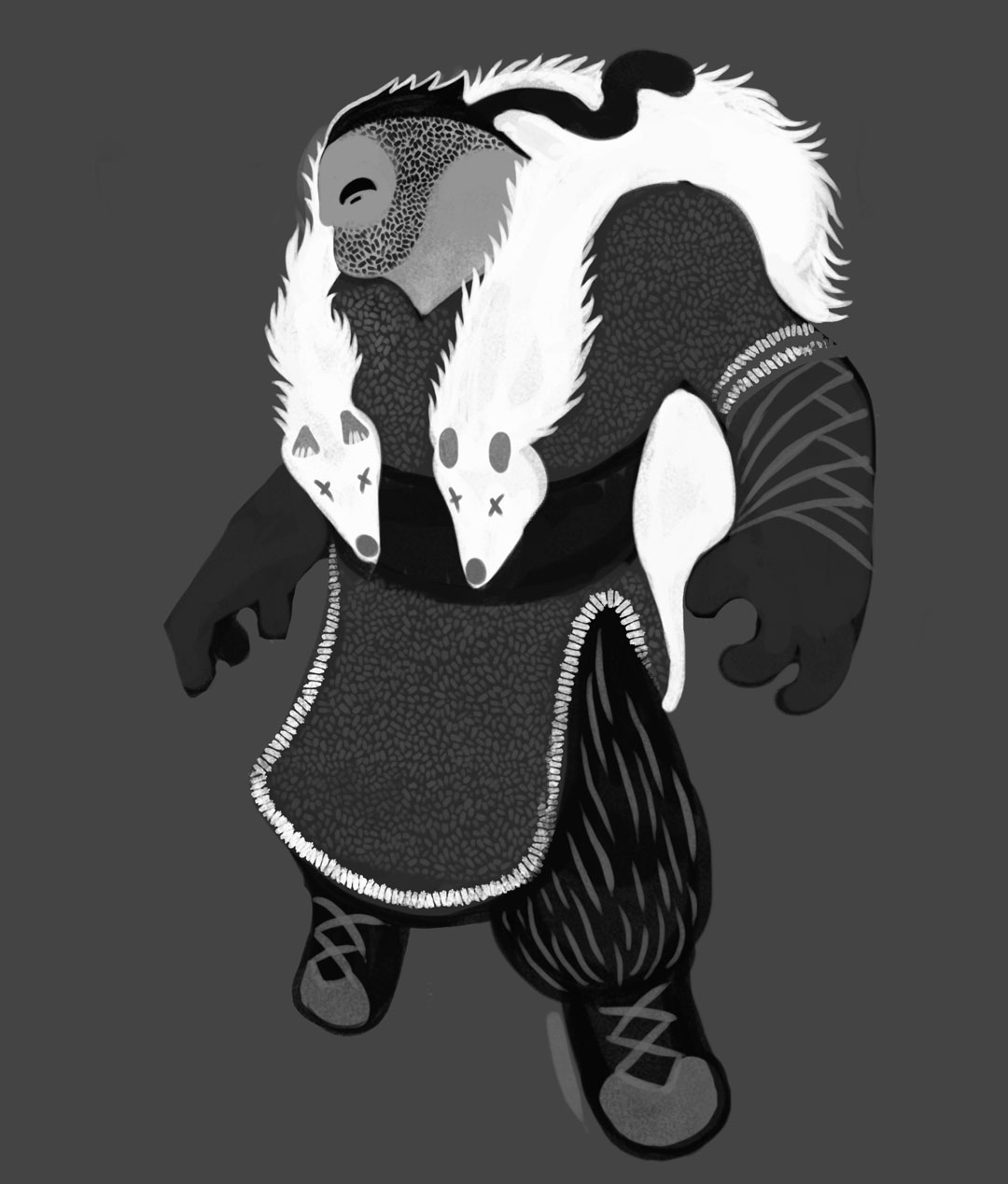 SOMNIUM, illustrated eBook. Duracotus young adult, character design. Art by Román García Mora.