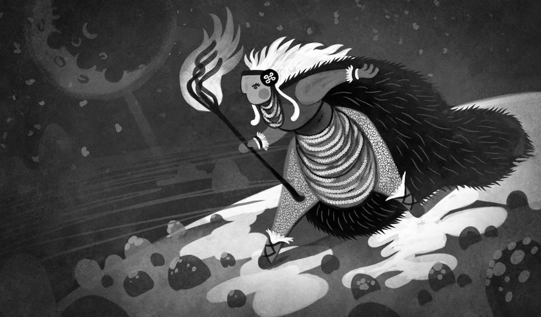 SOMNIUM, illustrated eBook. Fioxhilde, final Character Design. Art by Román García Mora.