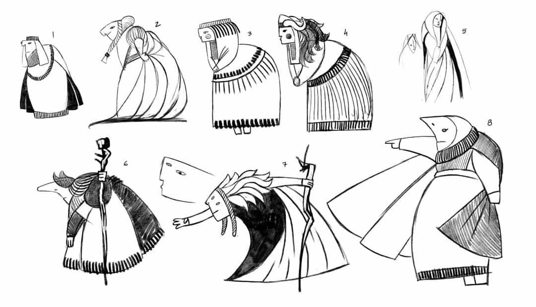 SOMNIUM, illustrated eBook. Character designs, early Fioxhilde. Art by Román García Mora.