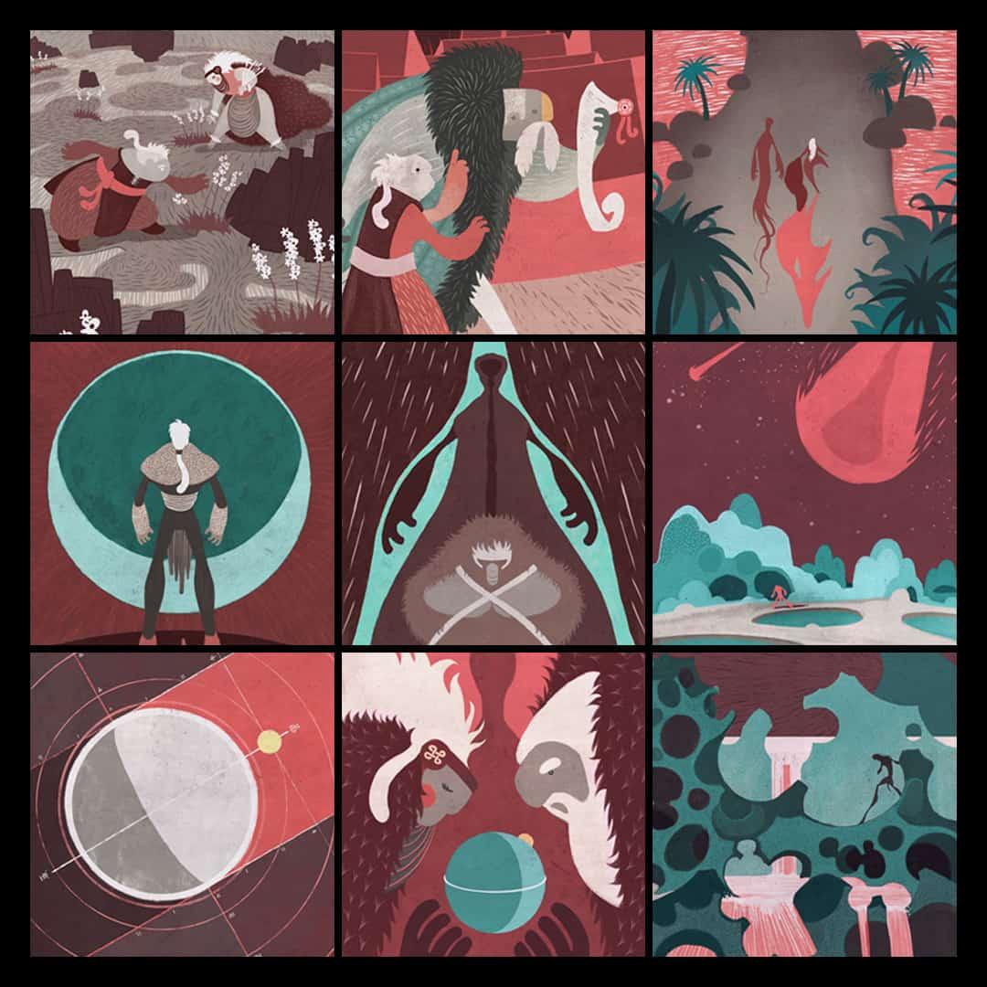 SOMNIUM, illustrated eBook. Details. Art by Román García Mora.